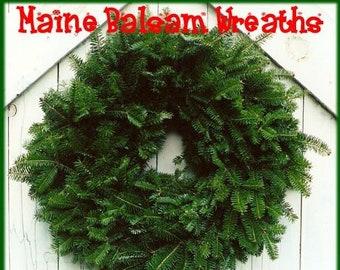 plain fresh maine balsam fir plain wreath 22