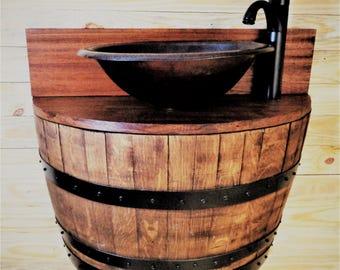 Wine Barrel Sink Etsy