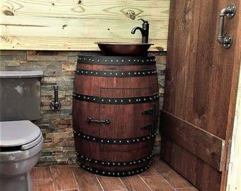 Wine barrel vanity   Etsy on wine or whiskey barrels, wicker bathroom vanity, chocolate bathroom vanity, pineapple bathroom vanity, wine keg, wine barrel bathroom shelves, green bathroom vanity, wine barrel vanity light, wine cask bathroom vanity, wood bathroom vanity, raspberry bathroom vanity, oak bathroom vanity, walnut bathroom vanity, old wooden barrel made into a vanity, wood barrel vanity, copper sinks for bathrooms vanity, window bathroom vanity, crate and barrel bathroom vanity, half barrel vanity, barrel sink vanity,
