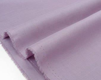 Linen fabric and soft cotton purple x 50cm