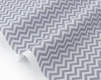 Fabric American chevron zigzag grey x 50cm