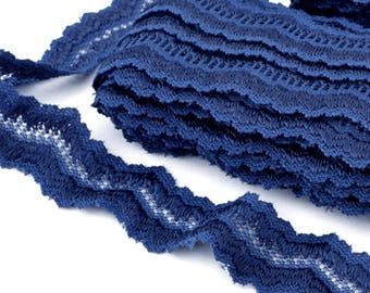 Lace Klauber Brothers NY couture Navy blue x 5