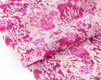 20% off fabric Liberty of London 83x138cm magenta Paper Garden Rose