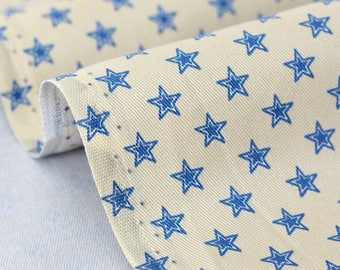 Cotton fabric stars background x 50cm