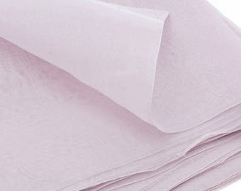 X 50cm Pink Purple silk organza fabric