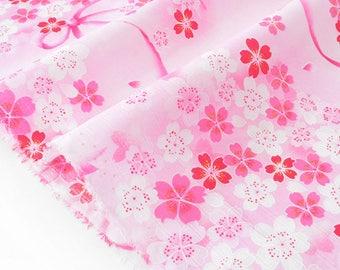 Fabric 50cm x pink cherry blossom Japanese