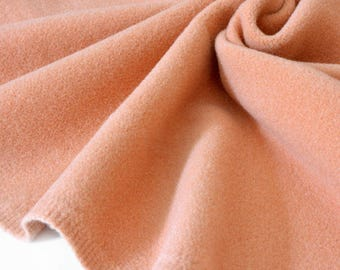 Wool velvet fabric heavy soft warm camel 154x150cm