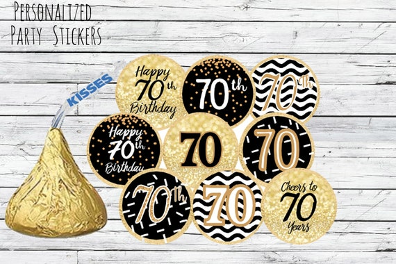 70th Birthday Party Decorations Black And Gold Birthday Party
