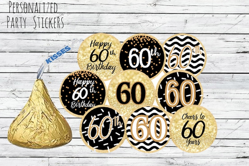 60th Birthday Party Decorations Black And Gold