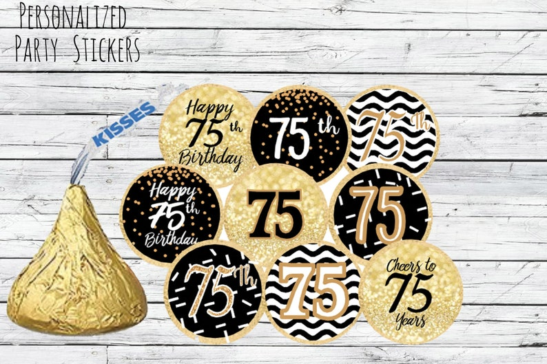 75th Birthday Party Decorations Black And Gold