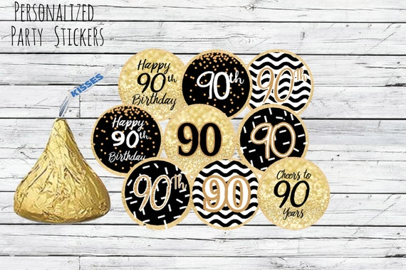 90th Birthday Party Decorations Black And Gold