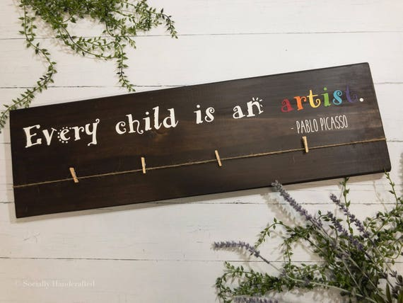every child is an artist wooden photo board children u0026 39 s
