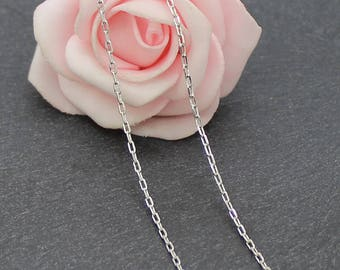 5 meters of 2.5x1.5 CH33 mm platinum silver plated brass chain