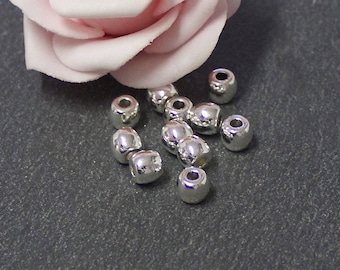 x 20 6 x 5 mm PMA84 silver-plated spacer beads