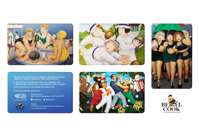 BERYL COOK Contactless Protector Card /'Myne Dancing Collage 1/' Official Myne Cards Product