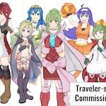 Traveler-san's  commissions!