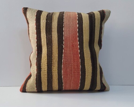 Kilim Pillow Cover 40x40 Boho Kilim Pillow Cover Turkish Kilim Etsy Best Etsy Pillow Covers 20x20
