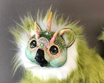 An OOAK baby griffin, dragon, poseable, doll, sculpture