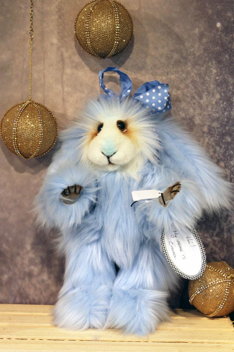 Teddy Handmade bear bunny rabbit plush stuffed  animal jointed OOAK