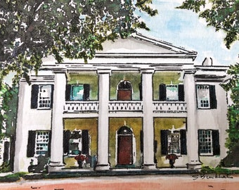 Natchez watercolor note card set - Set #2 Monmouth, The Briars, Longwood, and Dunleith
