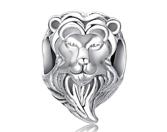 b2603b9f4 Lion King Sterling Silver Charm Fits Pandora and Other Snake Chain Charm  Bracelet, DIY Jewelry Anniversary Birthday Gift