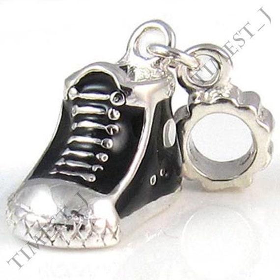 CUTE CONVERSE STYLE TRAINER Keyring Clear Diamante Rhinestone Charm shoe *NEW