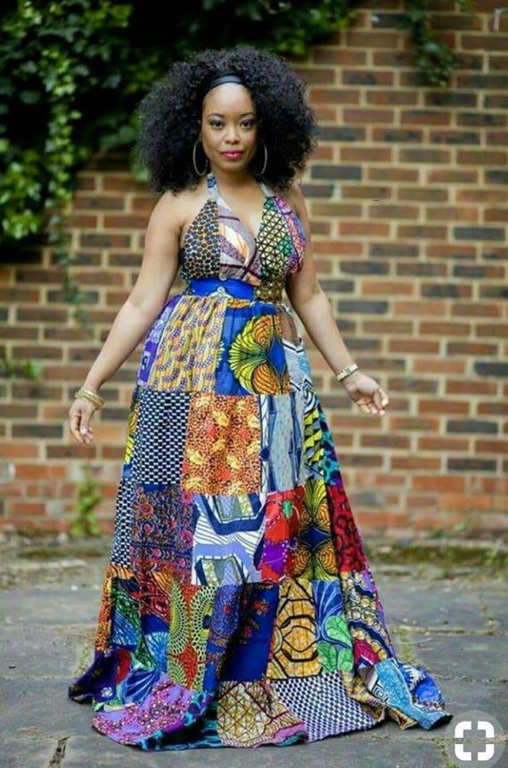 Patchwork Kleidung-Kleid Patchwork-Kleid-Muster Patchwork | Etsy