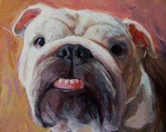 Custom Dog Oil Painting, Custom Pet Portrait, Dog Portrait, Pet Memorial, Animal Painting, Original Art
