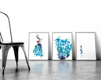 Fashion Splashes Series by Toronto Artist: Iliana Sergeev