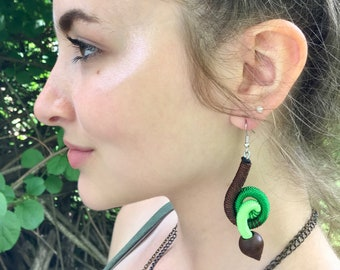 Colorful Squiggle Earrings from Inspired Planet