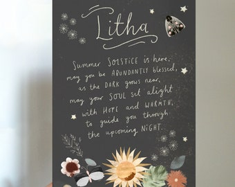 Litha Summer Solstice Blessings Printable