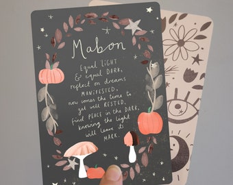Mabon Autumn Equinox Blessings Print