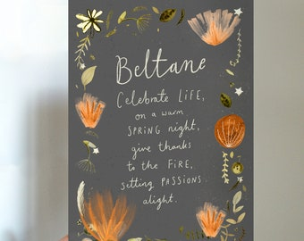Beltane Blessings Printable