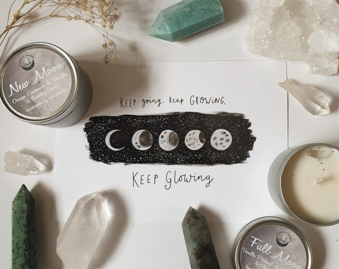 Inky Moon Phases