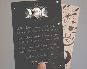 Triple Goddess Blessing Print Altar Card