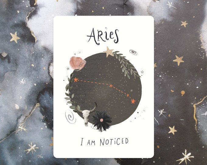 Featured listing image: Aries Affirmation Mini Print