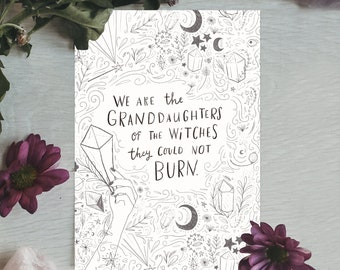 Witches Quote Print
