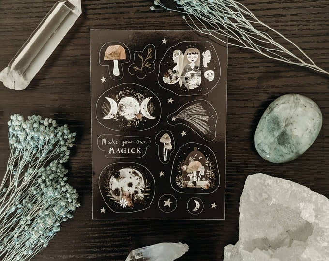 Featured listing image: Witchy A6 Sticker Sheet