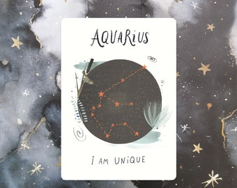 Aquarius Affirmation Mini Print