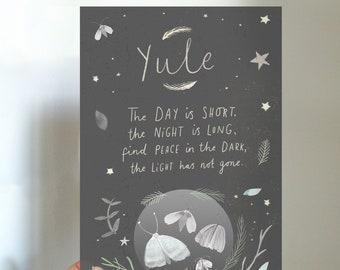 Yule Winter Solstice Blessings Printable