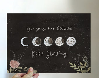 Moon Phase Mini Print