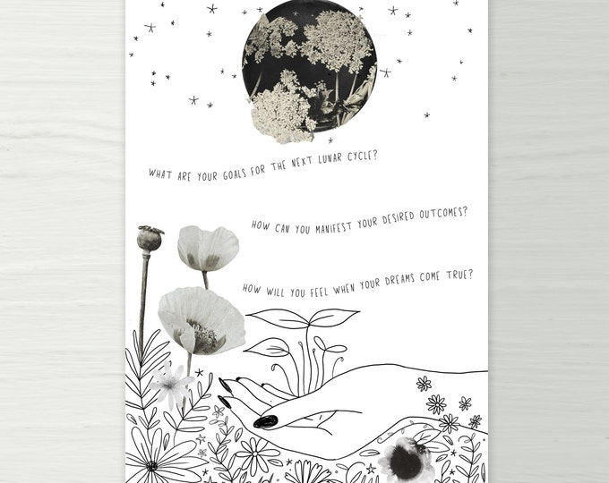 Featured listing image: New Moon Ritual Printable