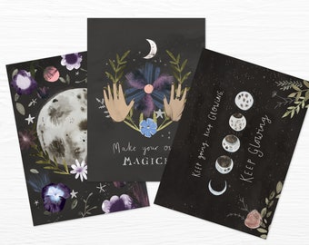 Moon Magick Mini Prints Set of 3