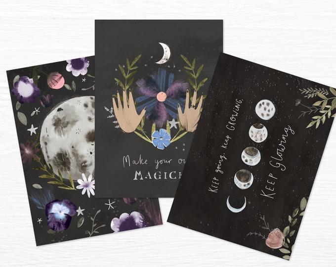 Moon Magick Mini Prints Set of 3