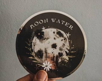 Moon Water Full Moon Silver Foil Sticker