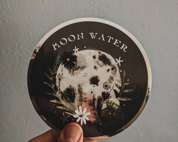 Featured listing image: Moon Water Full Moon Silver Foil Sticker