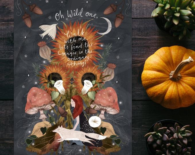 Featured listing image: Autumn Magic A5 Print
