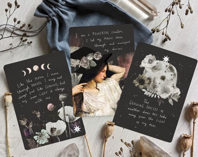 Featured listing image: Divine Botanical Affirmation Cards