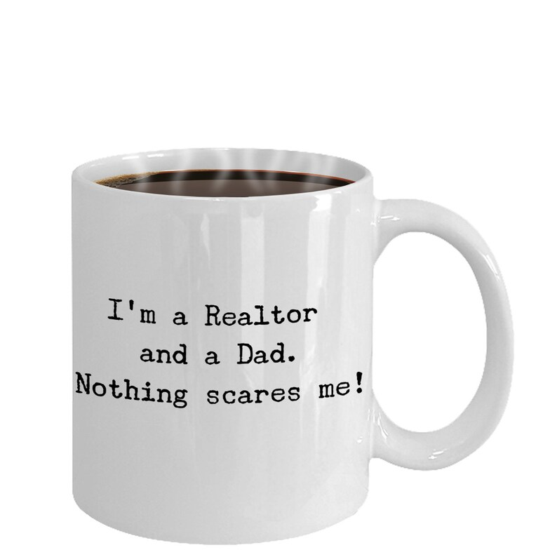 Funny Realtor Dad Coffee Mug Real Estate Agent Daddy Gift