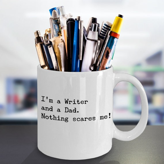 Funny Writer Dad Coffee Mug Cool Writing Lover Gift